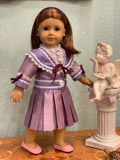 Sewing Doll Clothes, Sewing Dolls, Girl Doll Clothes, Doll Clothes Patterns, Girl Dolls, Diy Clothes, Clothing Patterns, American Girl Doll Samantha, American Girl Dress