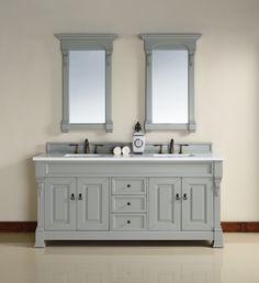 "Brookfield 72"", James Martin Urban Grey Traditional Bathroom Vanity,double sink"