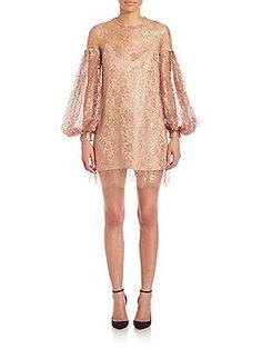 Zimmermann Lavish Lace Billow Tunic - Rose Gold