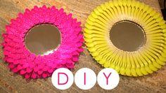 DIY- Decora tu cuarto o habitación/ Espejo con cucharas de plástico