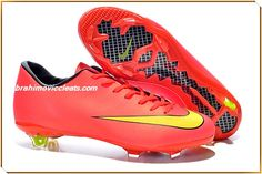 X FG Boots Nike Mercurial Victory (Red Yellow Black) Soccer Cleats 8f69dda5848e9
