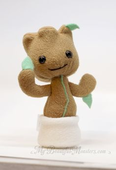 chibi baby groot plush toy by mybeautifulmonsters on deviantart felt fun pinterest. Black Bedroom Furniture Sets. Home Design Ideas