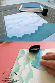 How to make a cloudy sky. Wonderful!!! - Nessa