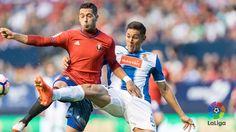 LaLiga: GOL | El RCDEspanyol se adelanta en Pamplona! Baptistao supera a Mario con un gran remate de cabeza para el 0-1 (42'). #OsasunaEsp