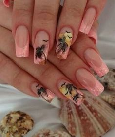 Best Palm Tree Nail Ideas for Summer