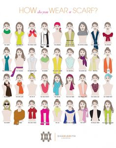 1000 images about how to tie neck scarves on