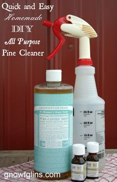 DIY All Purpose Pine Cleaner | I'm not going to sacrifice cleanliness just because I own and operate a muddy homestead. So, I whipped up my own version of pine cleaner to keep on top of muddy floors. Not only are the ingredients familiar and easy-to-find, the recipe is quick and gets the job done! It keeps my floors clean and smelling of fresh pine. | GNOWFGLINS.com