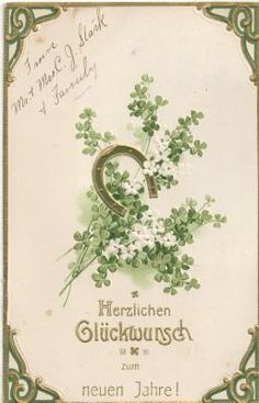 Turns out shamrocks aren't limited to St. Totally acceptable for use in wishing someone a happy New New Year too. Who knew?