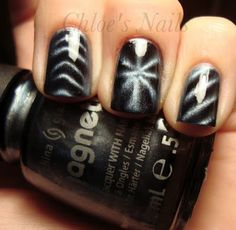 I need to get these. SO cool. China Glaze Magnetix Swatches- Pull Me Close