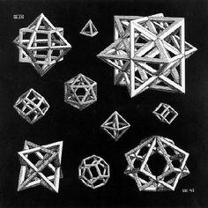 M.C. Escher, Study of Stars, 1948  #research  #visualcodes  #reference  #Kova  #KovaJewels  #finejewellery