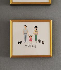 Our newest family portrait by Rifle Paper Co.