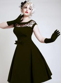 Bettie Page retro clothing, love this style!! hat and gloves!!