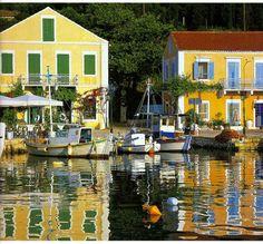 Fiscardo! Greek Islands, Villas, Geography, Wander, Swimming Pools, Jewel, Restaurants, Beautiful Places, Scenery
