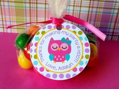 Hey, I found this really awesome Etsy listing at https://www.etsy.com/listing/178989882/12-colorful-owl-birthday-party-favor