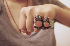 Super cute owl ring!