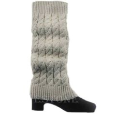 In Women Leg Warmers Thich Fleece Rhombus Boot Socks Knitting Winter Boot Cuffs Legwarmers Calentadores Pierna Mujer Knee Warmer Novel Design;