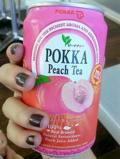 Pokka Peach Tea♡