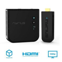 Nyrius Aries Prime Wireless Video Hdmi Transmitter & Receiver for Streaming HD & Digital Audio to Hdtv Pro Camera, Video Camera, 3d Tvs, 3d Video, Digital Audio, Hdmi Cables, Hd 1080p, Computer Accessories, Xbox One