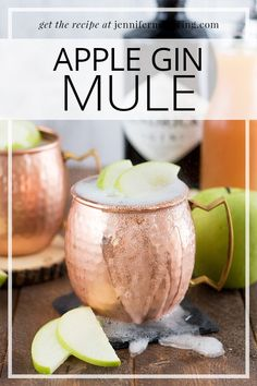 Start fall off on the right foot with this new twist on a classic moscow mule, made with Hendrick's Gin and apple cider! Gin Drink Recipes, Tropical Drink Recipes, Gin Cocktail Recipes, Alcohol Recipes, Gin Mule Recipe, Moscow Mule With Gin, Triple Sec