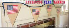 Patriotic Flag Banner by virginiasweetpea.com