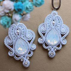 Soutache Pendant, Soutache Necklace, Tassel Earrings, Ring Earrings, Crochet Earrings, Boho Jewelry, Wedding Jewelry, Jewelery, Couture Embroidery