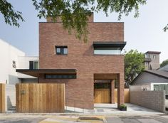 Image 1 of 37 from gallery of House in Hyojadong & Min Soh + Gusang Architectural Group + Kyoungtae Kim. Photograph by Namgoong Sun Houses Architecture, Modern Architecture, Courtyard House, Facade House, Brick Courtyard, Brick Building, Building A House, Dream Home Design, House Design