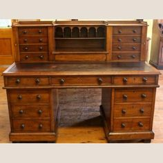 Century Australian Cedar Dickens type Twin Pedestal Desk, featuring 16 drawers, with nice old revived finish. Wellington type locking mechanism to upper drawers. Furniture Showroom, Street Furniture, Colonial Furniture, Antique Furniture, Cheap Furniture Stores, Pedestal Desk, Old Desks, 19th Century, Drawers