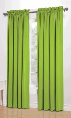 Sun Zero Kylee Room-Darkening Energy-Efficient Curtain Panel Available In Multiple Colors And Sizes, Green