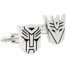 Autobot and Decepticon cuff links Transformer Cufflinks Fantasyard http://www.amazon.com/dp/B004KU4ZWA/ref=cm_sw_r_pi_dp_qoITtb15J9RF15YS