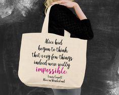 Impossible Alice In Wonderland Tote Bag