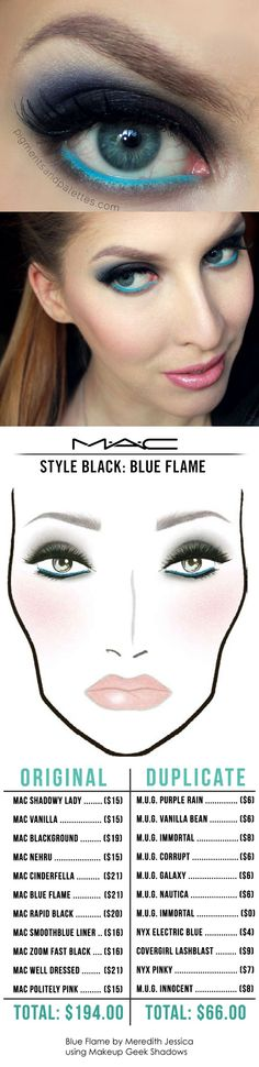 Blue Flame by Meredith Jessica MAC-to-Makeup Geek dupes