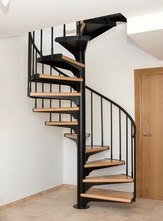 Escalier colimaçon fort uno Escalier colimaçon fort uno Click The Link For Se… Spiral Stairs Design, Home Stairs Design, Interior Stairs, Spiral Staircase, Home Design Plans, House Design, Neutral Living Room Colors, Casas Containers, Pole Barn Homes
