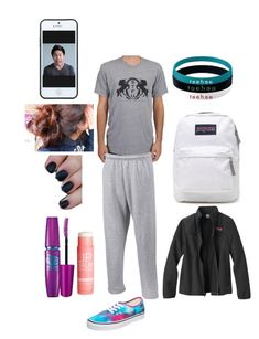 """Pajama day at school tomorrow"" by acdavi5 ❤ liked on Polyvore featuring Volum, JanSport, Vans, H&M, Fila and Kate Spade Saturday"