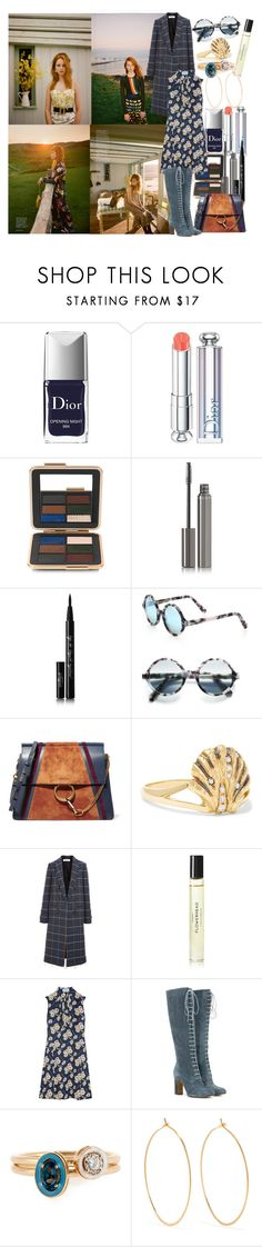 """""""Ring the bells that still ring, forget your perfect offering, there is a crack in everything, that's how the light gets in"""" by brownish ❤ liked on Polyvore featuring Simmons, Christian Dior, Estée Lauder, Chantecaille, Eyeko, Cutler and Gross, Chloé, Venyx, Victoria Beckham and Byredo"""