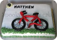 Matthew Is One Very Lucky 9 Year Old With This Fabulous Bicycle Birthday Cake
