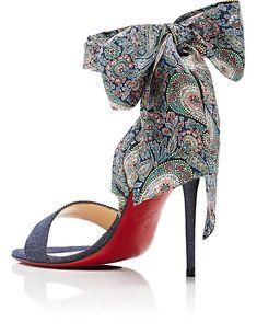 Womens Sandale Du Desert Denim Sandals Christian Louboutin hSPm2eHE