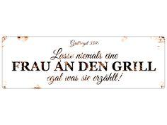 """Großes Dekoschild/""""ICH BIN WIE ICH BIN DIE EINEN KENNEN MICH,.../"""" Metallschild"""