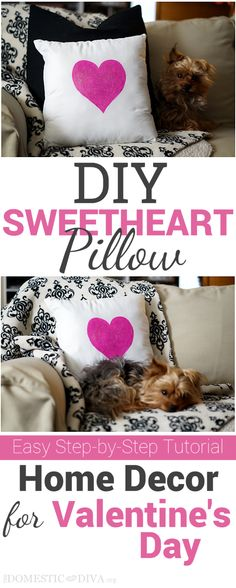 DIY SweetHeart Pillow for Valentine's Day #diy #valentinesday #craft #homedecor #heart #love