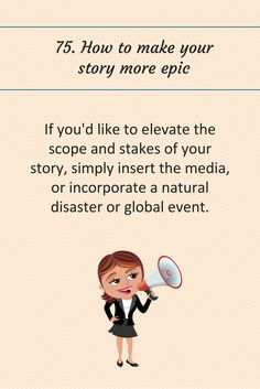 75: How to make your story more epic.