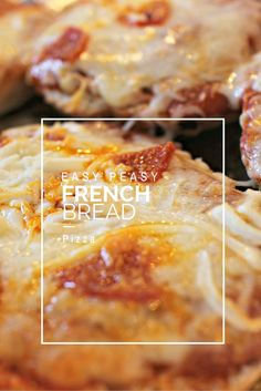 Easy Peasy French Bread Pizza. All the steps for a quick little pizza that please the crowd everytime.