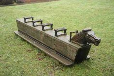 These things were rockin in the old playgrounds of the 70's and 80's!  Loved these too - we could REALLY get it rocking - although the one I rocked on was on concrete