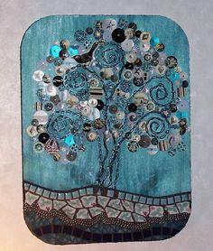 mixed media mosaic found on etsy- lowbridgeartworks