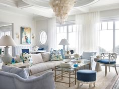 """3,347 Likes, 25 Comments - Traditional Home (@traditionalhome) on Instagram: """"As relaxed as the lazy tides at its doorstep, a #Carolina home designed by @melanieturnerinteriors…"""""""