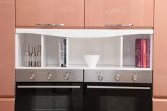 2014 OPPEIN Island Kitchen Cabinets Lacquer Finish Guangzhou Export-OP14-107
