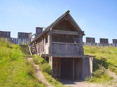 TRELLEBORGS, were viking ring fortresses, in Denmark, and Sweden. (Gatehouse) http://en.wikipedia.org/wiki/Viking_ring_castle
