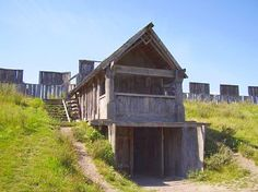 TRELLEBORGS, were viking ring fortresses, in Denmark, and Sweden. (Gatehouse) http://en.wikipedia.org/wiki/Viking_ring_castle