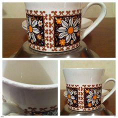 "CROWN LYNN ""VALENCIA"" PATTERN D375 CUP | Trade Me Valencia, Crown, Mugs, Tableware, Pattern, How To Make, Corona, Dinnerware, Tumblers"