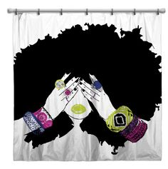 Chanel shower curtain ~ Pardon My Fro shop