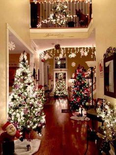 Christmas Home Interior Scenes Love Holidays Beautiful Trees