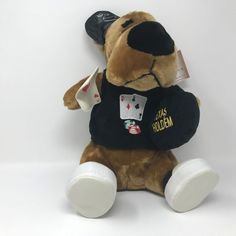"Shalom Toy Co. Plush Dog Texas Hold'em Casino Card Dealer Stuffed Animal Toy 13"" #ShalomToyCo"